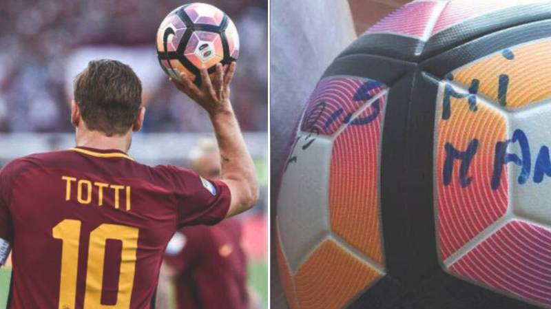 In His Last Game, Francesco Totti Wrote A Heartbreaking Message On The Match Ball
