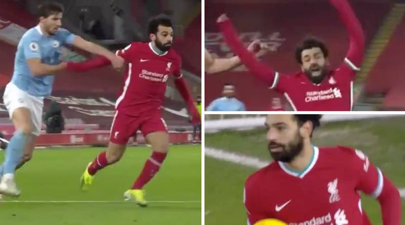 Fans Accuse Mohamed Salah Of Diving To Win 'Soft' Penalty Vs Manchester City