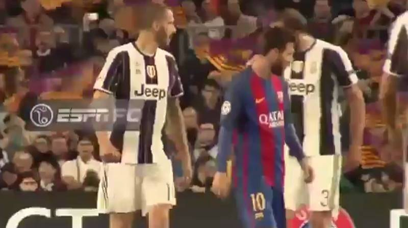 WATCH: Bonucci And Chiellini Have A Friendly Fight Over Messi's Shirt
