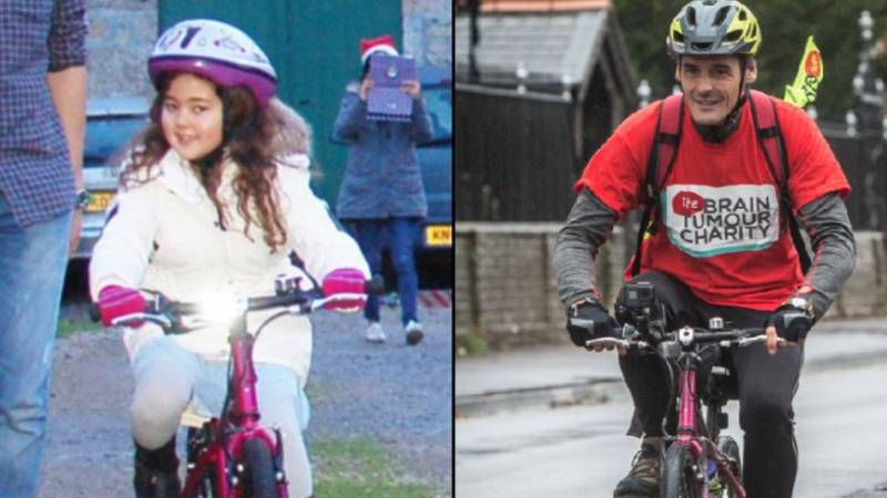 Dad Is Cycling 200 Miles On Late Daughter's Pink Bike For Charity