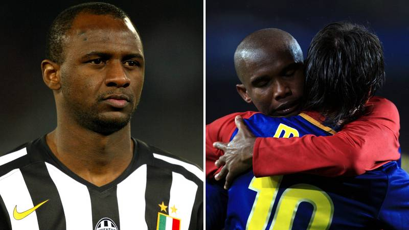 Eto'o Recalls His Message To Vieira Before He Played Against Messi In 2005