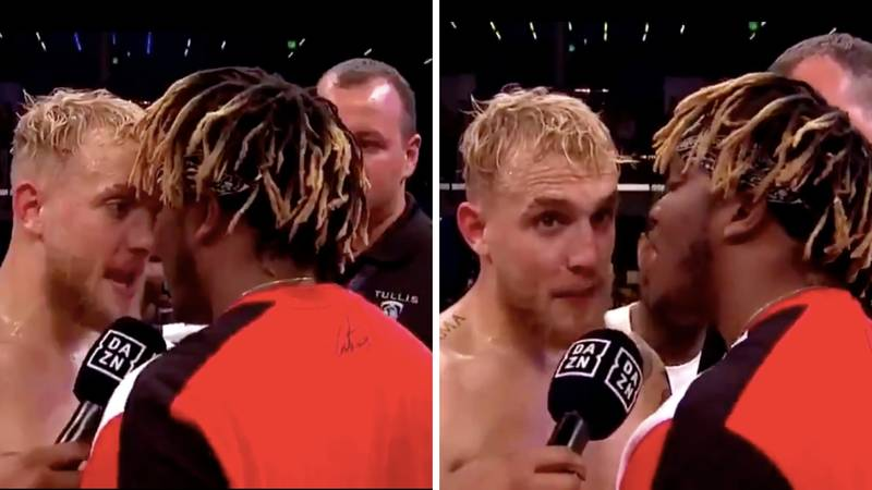 KSI And Jake Paul Involved In Bizarre Face-Off At End Of Fight