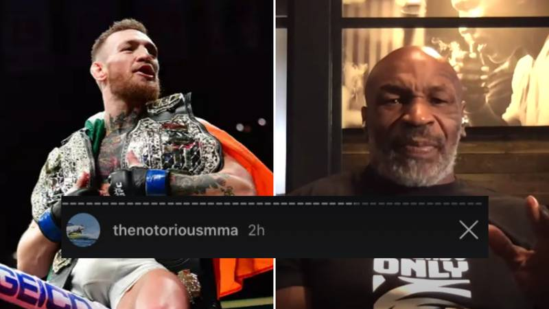 """Conor McGregor Reacts To Mike Tyson Claiming He Could """"Kick His A**"""""""