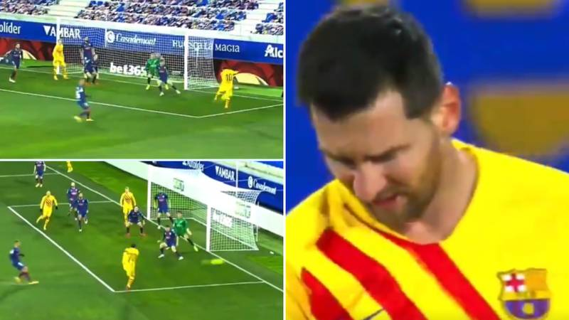 Lionel Messi's 'Karate Kick' Shot Vs Huesca Is The Worst Of His Barcelona Career