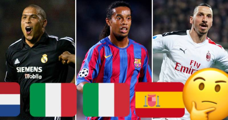 QUIZ: Can You Name These Top Footballers By The Countries They've Played In?