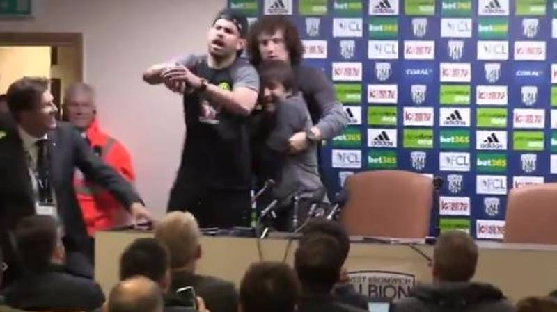 WATCH: Antonio Conte 'Abducted' By Luiz And Costa During Press Conference