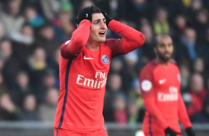 WATCH: Marco Verratti Picks Up A Bizarre Yellow Card