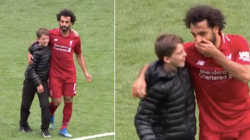 Mohamed Salah's Reaction To Young Pitch Invader Is Why We All Love Him