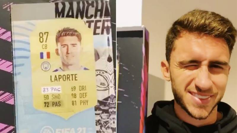 Aymeric Laporte Edits His FIFA 21 Card After Being Furious With Pace Attribute