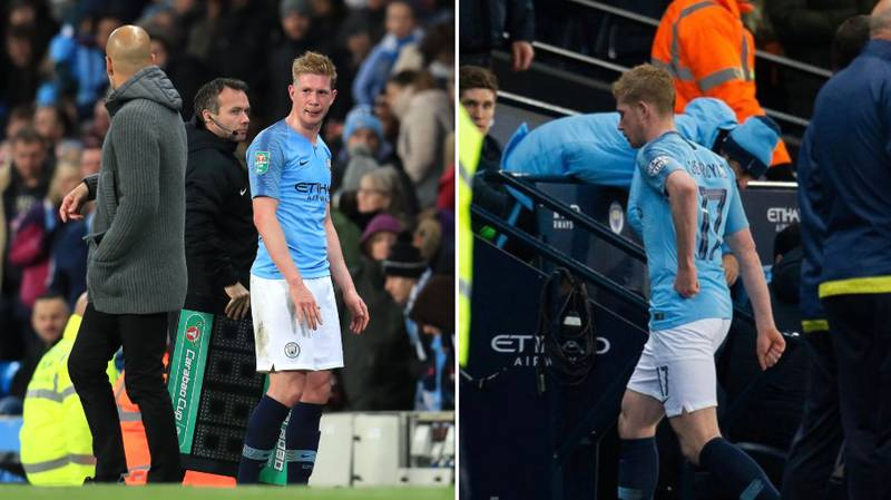 Why Kevin De Bruyne Went Straight Down The Tunnel After Being Subbed Vs. Burton
