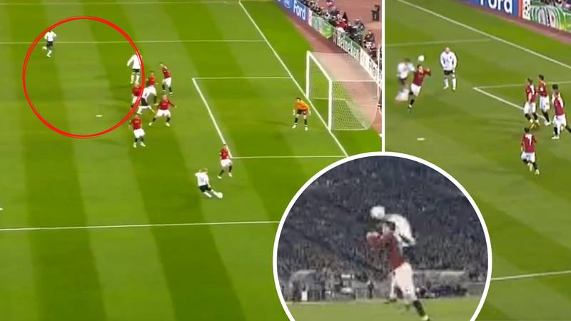 The Incredible Moment Cristiano Ronaldo Scored A Bullet Header After He 'Wasn't In Frame' For Paul Scholes' Cross