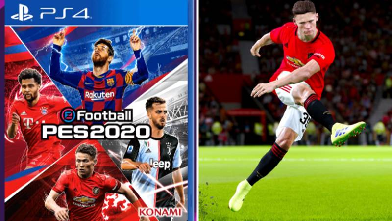 Scott McTominay Is On The PES 2020 Front Cover Alongside Lionel Messi