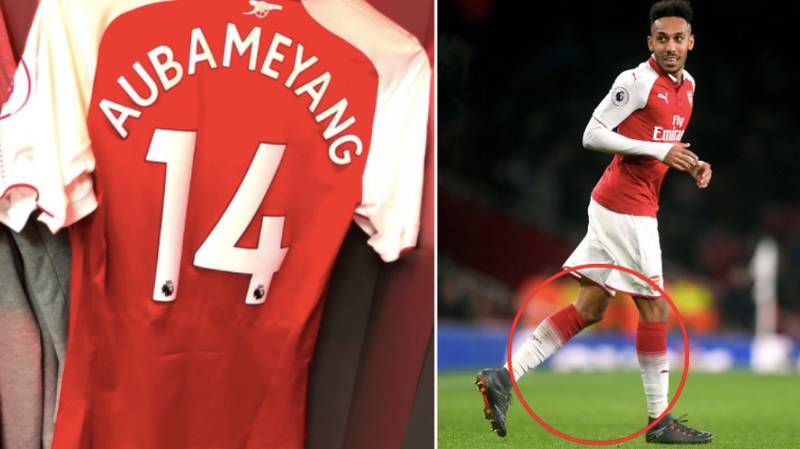 Everbody Noticed The Same Thing About Pierre-Emerick Aubameyang's Dressing Room Picture Before Kick-Off