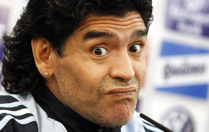 Maradona Lashes Out At Manchester United Player And His Wife