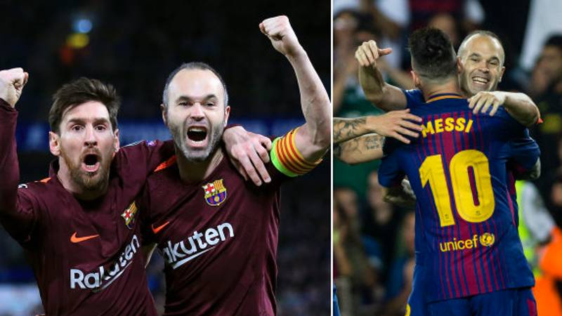 Andrés Iniesta Hands Lionel Messi The Ultimate Compliment