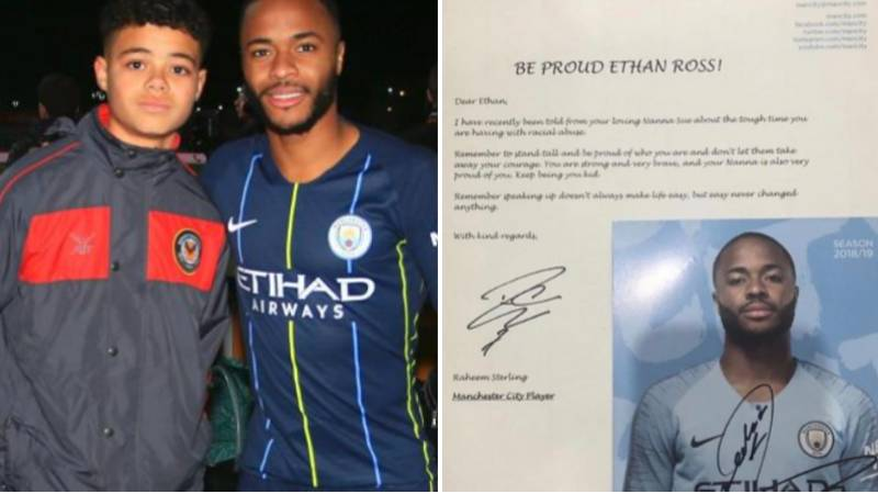 Raheem Sterling Meets Racially Abused Young Fan, Gives Him His Shirt And Advice