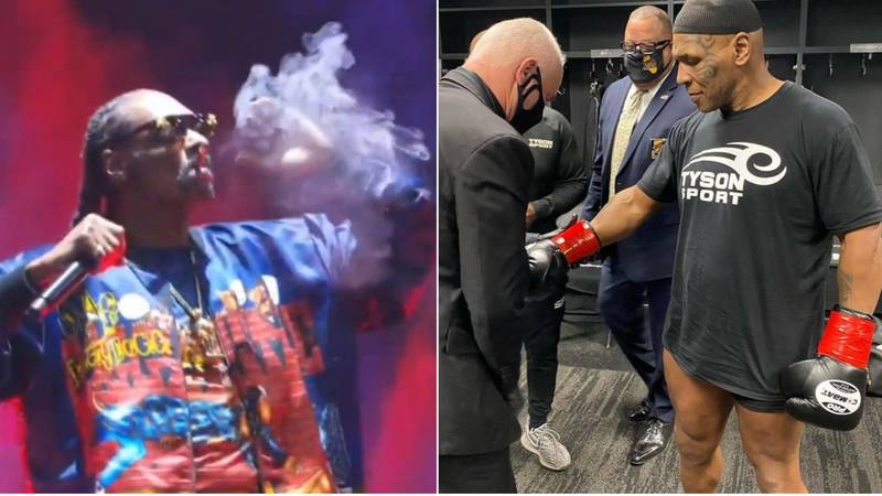 Snoop Dogg Smokes Weed And Drops Incredible Live Performance Before Mike Tyson's Comeback
