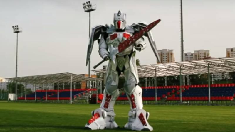 Belarus' National Team Have Unveiled A Giant Transformer As Their Mascot