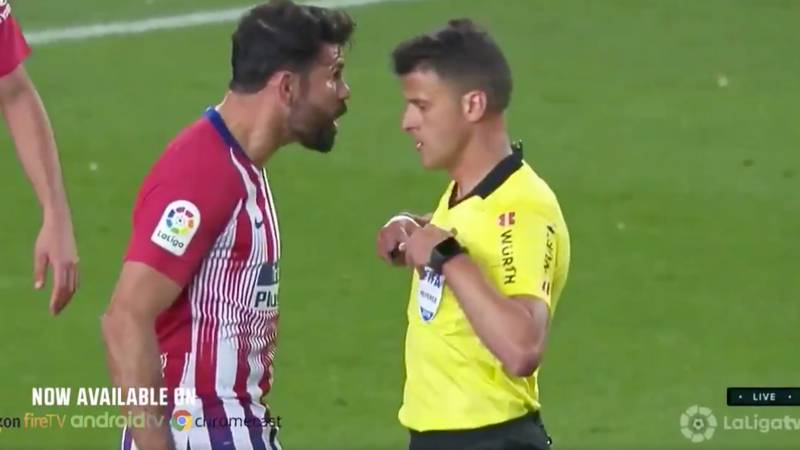 Diego Costa Gets A Straight Red After Fully Blowing His Cool With The Referee