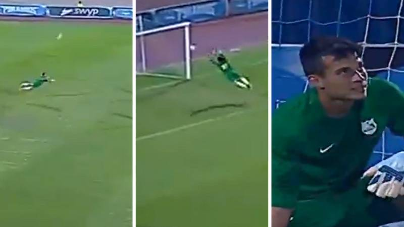 Egyptian Goalkeeper Goes Viral For Incredible Save After Headed Clearance