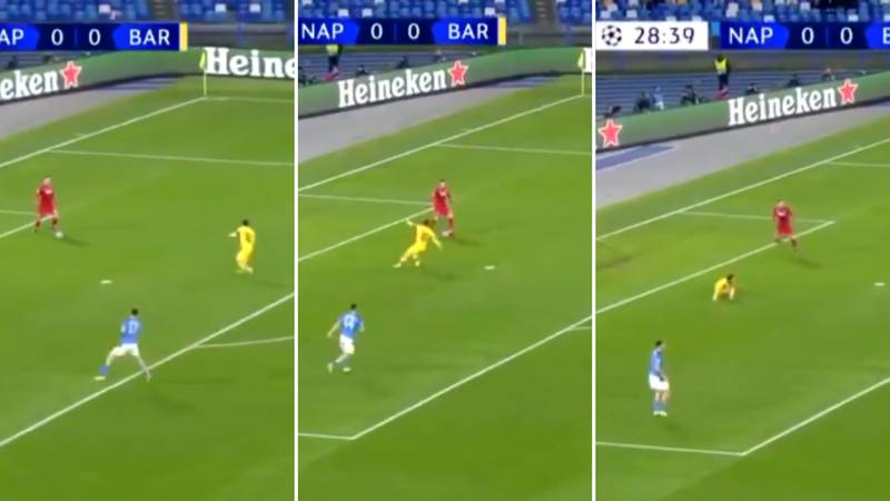 David Ospina 'Breaks Lionel Messi's Ankles' - Napoli Score Moments Later