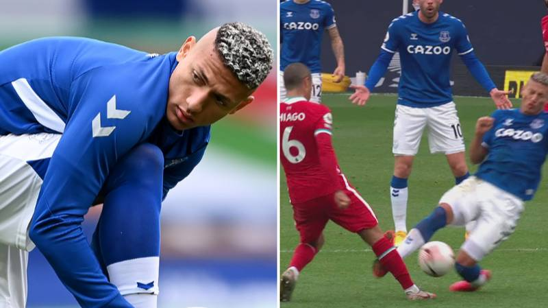 Richarlison Issues Classy Apology After Being Sent Off For Horror Challenge On Thiago Alcantara