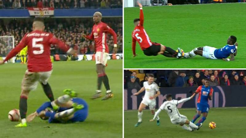 It Was A Miracle Marcos Rojo Didn't Get A Red Card In His 122 Appearances For Manchester United