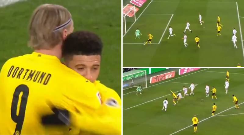Erling Haaland Scores Stunning Back-To-Back Goals For Borussia Dortmund Against Monchengladbach