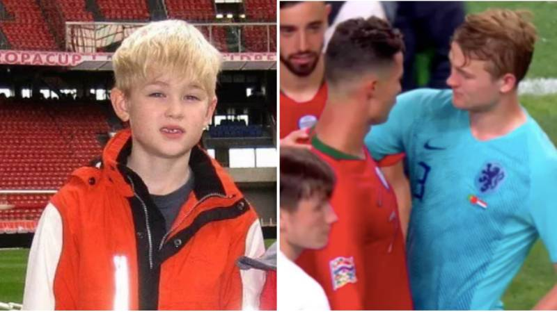 Matthijs De Ligt Pretended To Be Cristiano Ronaldo In His Back Garden, Now They Will Be Teammates