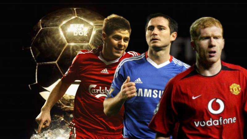 Scholes, Lampard And Gerrard - Looking At Their Ballon d'Or Votes