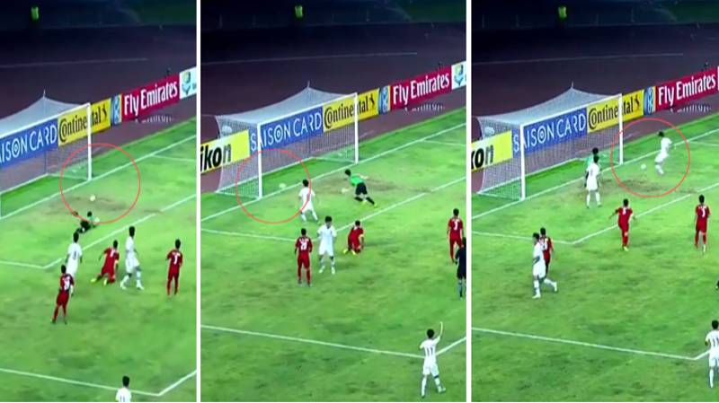 The Incredible Moment South Korea Under 19's Hit The Woodwork Three Times In Two Seconds