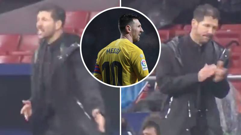 Diego Simeone's Reaction To Lionel Messi's Stunning Goal Is Genuinely Priceless