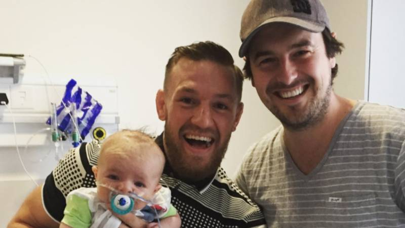 Conor McGregor Takes Time Out From Training To Visit Children's Hospital