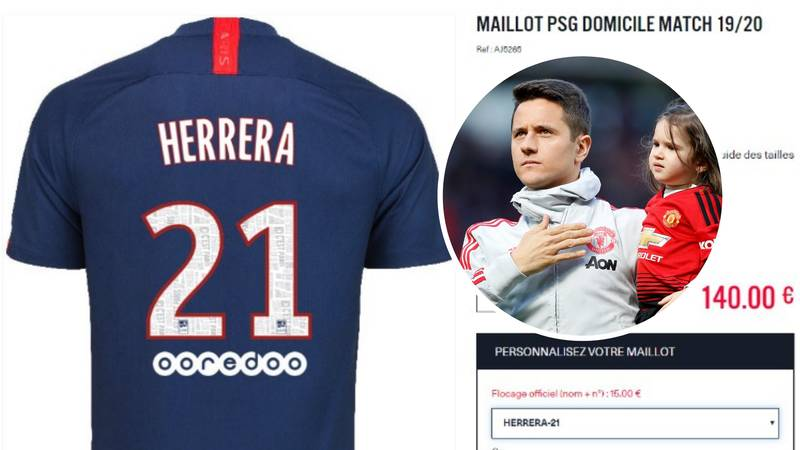 Manchester United Fans Are Heartbroken After PSG List Ander Herrera's Shirt Ahead Of Transfer