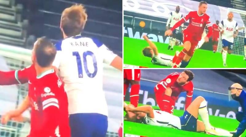 Fans Are Convinced Harry Kane 'Injured Himself' By Trying To 'Back In' To Jordan Henderson