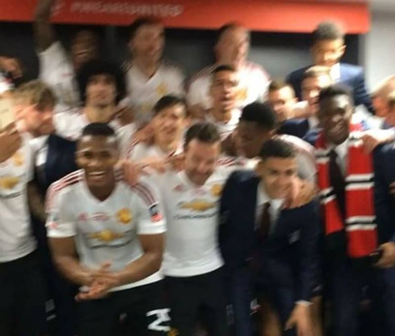 WATCH: Manchester United Players Sing Song About Manchester City After FA Cup Final