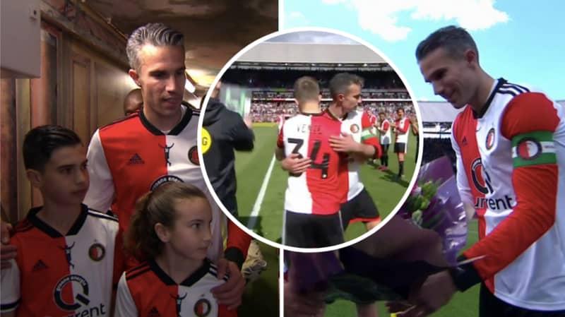 Robin Van Persie Plays His Last Ever Game In Professional Football