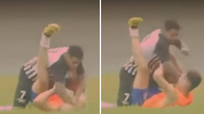 Footballer In Brazil Unleashes Shocking Attack On Ball Boy