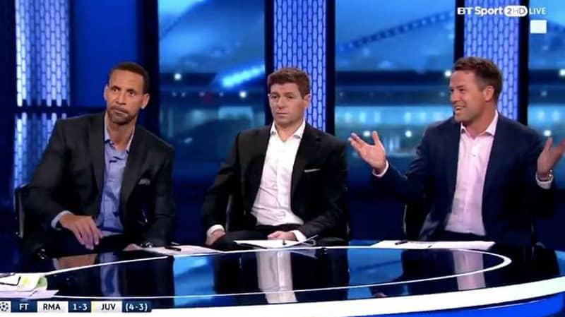 Owen Makes Joke About Buffon, Rio And Gerrard's Reaction Says It All