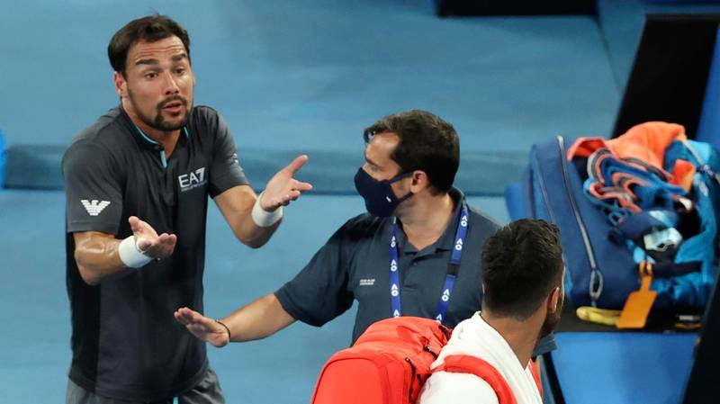 Fabio Fognini And Salvatore Caruso Had To Be Separated In Fiery Post-Match Argument