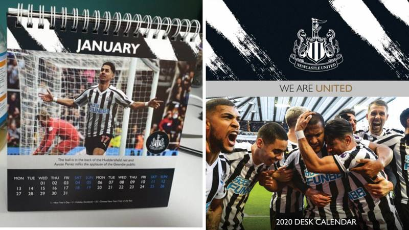 "Newcastle United Say They ""Deeply Regret"" The Release Of Their Official 2020 Calendar"