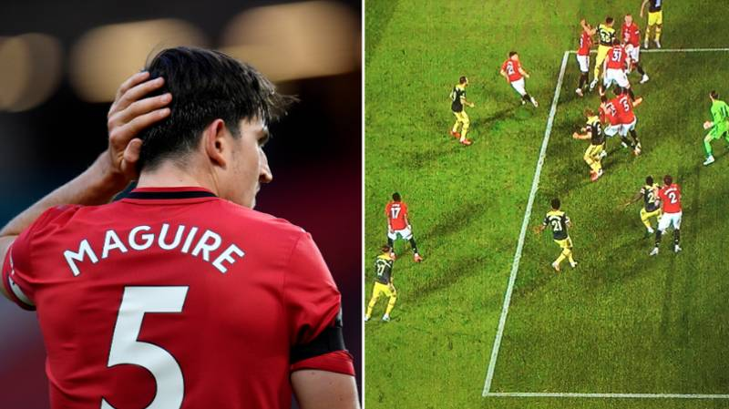 Harry Maguire Mocked For Marking His Own Teammate For Southampton Equaliser