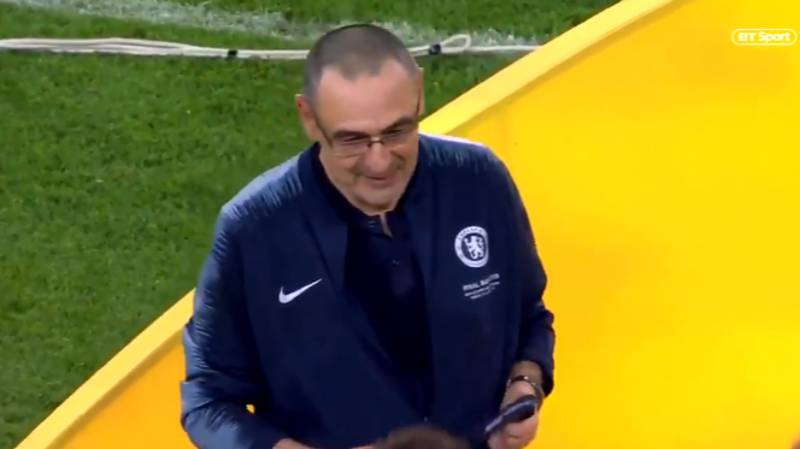 When Maurizio Sarri Couldn't Hide His Delight At Winning A Title