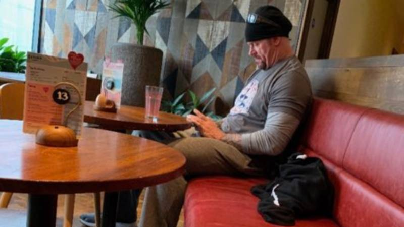 WWE Legend The Undertaker Spotted Having A Cheeky Nando's In UK