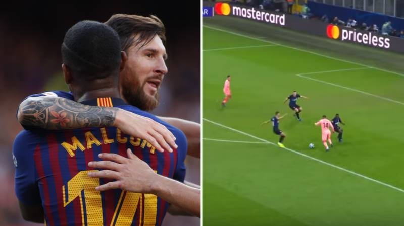 Malcom Reveals He Recorded Footage Of Lionel Messi Applauding His Champions League Goal Against Inter