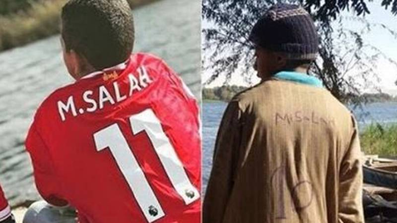Salah Gives Young Egyptian Lad A Liverpool Shirt In Truly Beautiful Gesture
