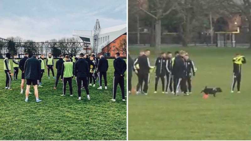 Sheffield United Train On Stanley Park Ahead Of Game Against Liverpool At Anfield