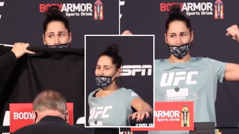 UFC Star Jessica Eye Shakes And Struggles To Stand After Brutal Weight Cut