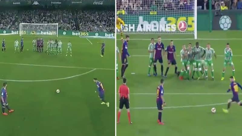 Lionel Messi Scores Unbelievable Free-Kick Against Real Betis