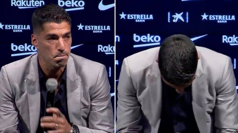 Luis Suarez Was Visibly Emotional In Barcelona Farewell Press Conference